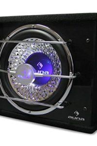 Auna Subwoofer auto coni da 25 CM (600 Watt Max, bass reflex, LED blu)
